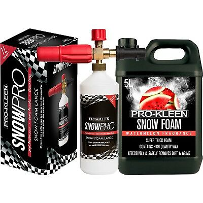 PRO KLEEN SNOW FOAM LANCE WITH 5 LITRES SNOW FOAM CAR WASH SHAMPOO PRESSURE WASH