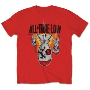 All-Time-Low-Official-Da-Bomb-Mens-Red-Short-Sleeve-T-Shirt-Distressed-Pop-Punk