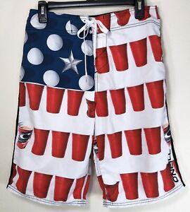 O/'Neill Men/'s American Beer Pong Sleeveless Tank Top Retail $30