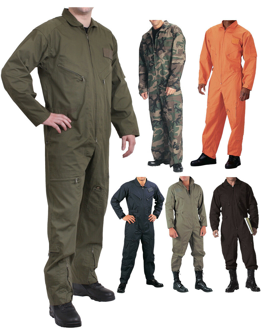 Military Flight Suit, Air Force Fighter Coveralls, Army Camo Jumpsuit Overalls