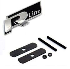 VW R Line Black Logo Grill Metal Car Emblem Tuning Badge For Polo Passat Golf UK