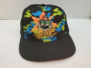 Toy-Story-4-Youth-Ball-Cap-Hat-Buzz-Lightyear-Camo-Black-Snap-Back-Adjustable