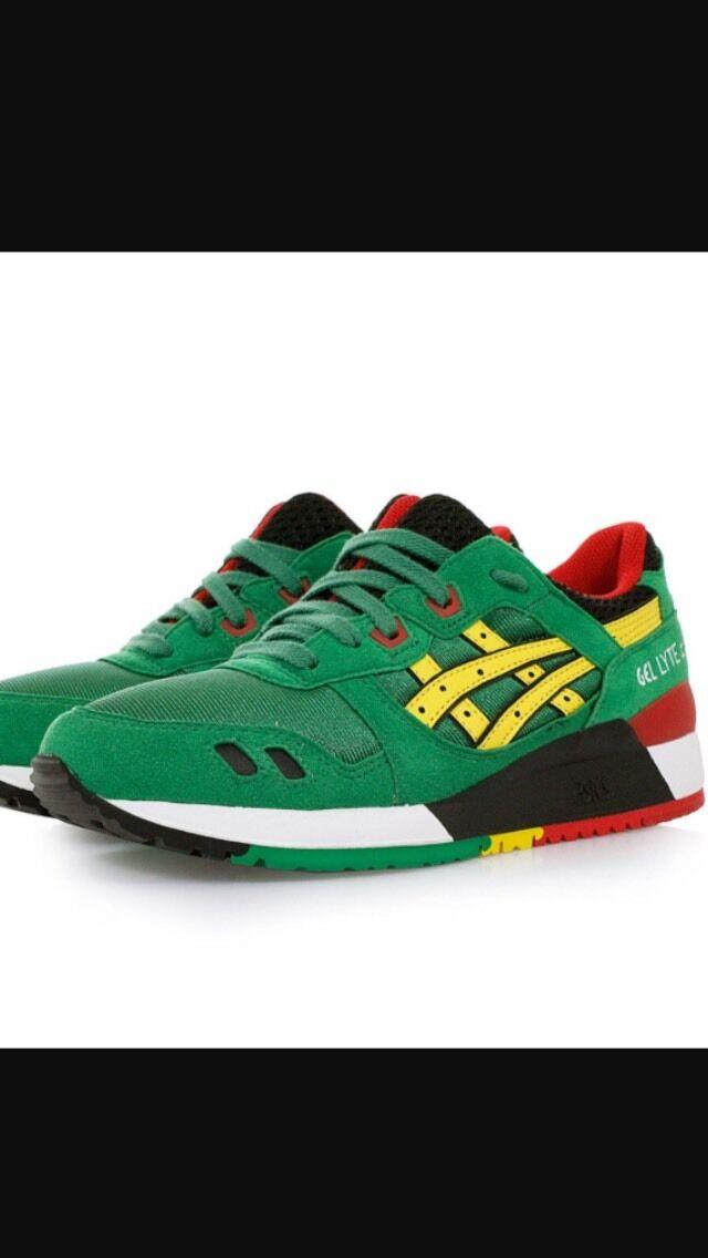 Asics Tiger Gel Lyte III 3 Green Yellow H514N-8404 Men's SIZE 10.5