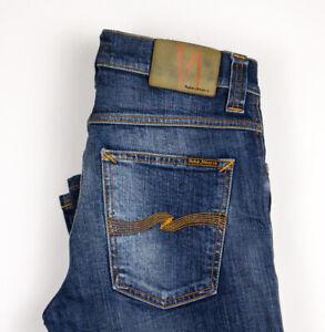 Nudie Jean Hommes Slim Jim Jeans Extensible Taille W30 L32 ATZ853
