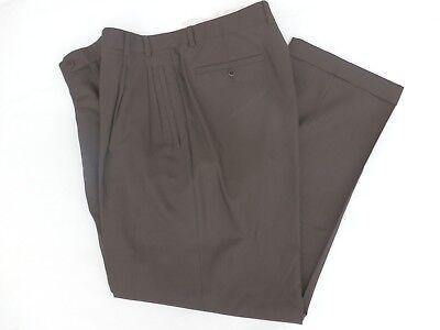 Hosen Energisch Me' Ns Zanella 100% Wolle Gefüttert Plissiert Braun Hose 36 X 30