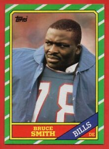 1986-Topps-389-Bruce-Smith-ROOKIE-RC-EX-EXMINT-Buffalo-Bills-HOF-FREE-SHIPPING