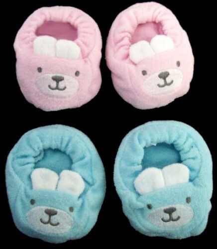 01406BS ^ Baby Goods Soft Booties For New Born Bunny Design  6 Pairs Lot