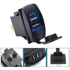 Car Marine Boat Rocker 3.1A 12-24V Dual USB Port Power Charge Charger Waterproof