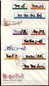 Responsable Coches. 3 Fdc. Pologne 1965-afficher Le Titre D'origine