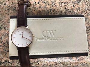 e907d412906cb Daniel Wellington DW St Andrews 36mm Watch Brown Leather Rose Gold ...