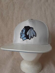 CHICAGO-BLACKHAWKS-NHL-Hat-Cap-039-47-Brand-White-w-Blue-Front-Logo-Lined-NWOT