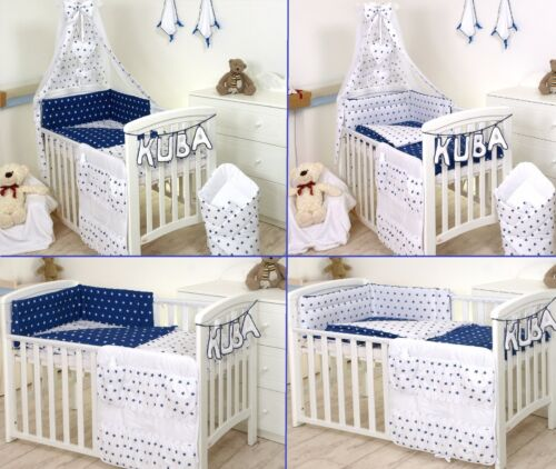 COVERs BUMPER CANOPY+MORE ELEPHANT GREY-YELLOW BABY BEDDING SET COT COT BED