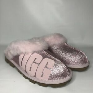 dd84aa1351b Details about UGG PINK COQUETTE UGG SPARKLE SHEEPSKIN SLIPPERS, WOMEN US  10/ EUR 41 ~NIB