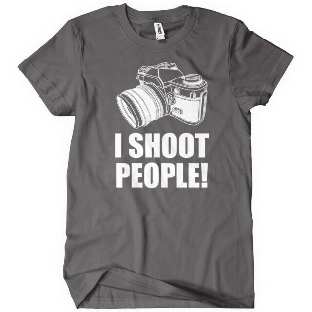 I Shoot People T-Shirt Funny Photographer TEE Camera Photography Digital Photo