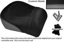 BLACK & GREY CUSTOM FITS SUZUKI INTRUDER VL 1500 98-04 REAR SEAT COVER