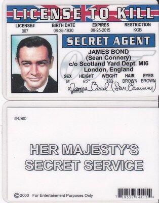 Sean Connery-James Bond Novelty Plastic credit card