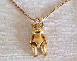 collier chaine pendentif cochon plaqué or