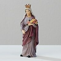 Statue St. Elizabeth Hungary 3.5 Inch Painted Resin Saint In A Box Card Catholic