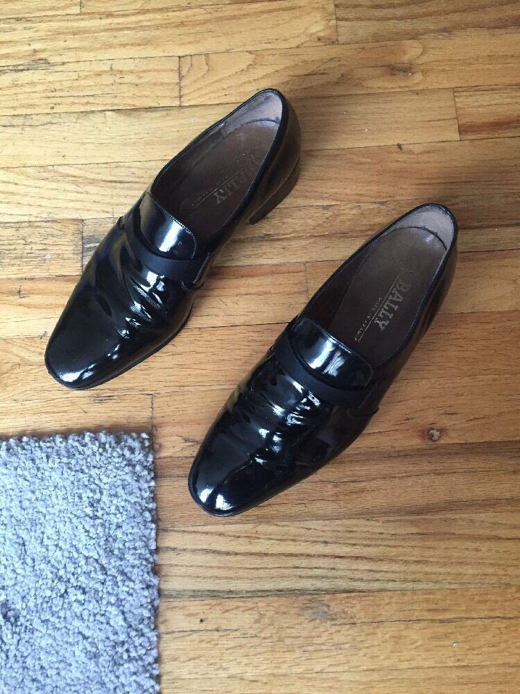 per offrirti un piacevole shopping online VINTAGE BALLY nero Patent Leather Uomo Pumps Slip On, On, On, Made In France, Dimensione 11  vendendo bene in tutto il mondo