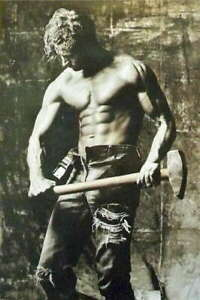 317374 MALE BODY PINUP MAN AT WORK Photography WALL PRINT POSTER CA