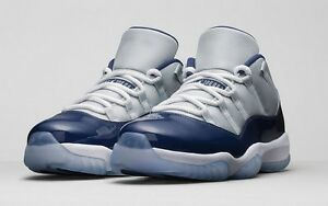 8b5e4899c105 Air Jordan 11 XI Retro Low BG GS Georgetown Grey Mist White Navy ...