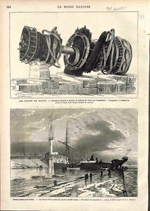 Epave du Navire Cuirassé Le Magenta Rade de Toulon/Boulogne-sur-Mer GRAVURE 1875 - France - EBay Wreck of the Battleship Ship The Magenta Rade of Toulon / Boulogne-sur-Mer Charles Dickens France ANTIQUE PRINT GRAVURE 100 % DÉPOQUE 1875 PORT GRATUIT EUROPE A PARTIR DE 4 OBJETS BUY 4 ITEMS AND EUROPE SHIPPING IS FREE Il s'agit d'un fragm - France