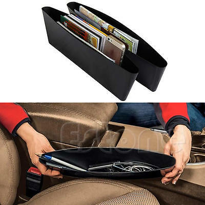 1Pcs Black Catch Catcher Box Caddy Car Seat Gap Slit Pocket Storage Organizer