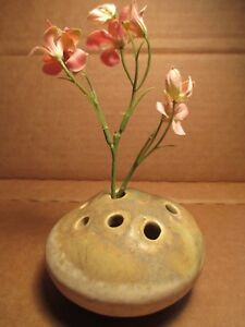 eBay & Details about Vintage Mexico Mexican Pottery Flower Frog Vase Signed WB MEX 3-1/4\
