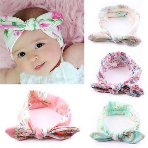 4-Stueck-Baby-Kinder-Stirnband-KNOTEN-Schleife-Haarband-Maedchen-Haarschmuck-M9P4