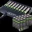 miniature 1 - Rechargeable Haute capacité AAA/AA Batteries Et 8-Way dock de chargement-Venom