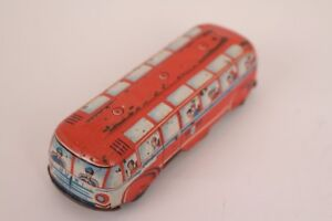 Huki-Hkn-Bus-Omnibus-Bus-Penny-Toy-Tin-Toy-Friction-Western-Germany