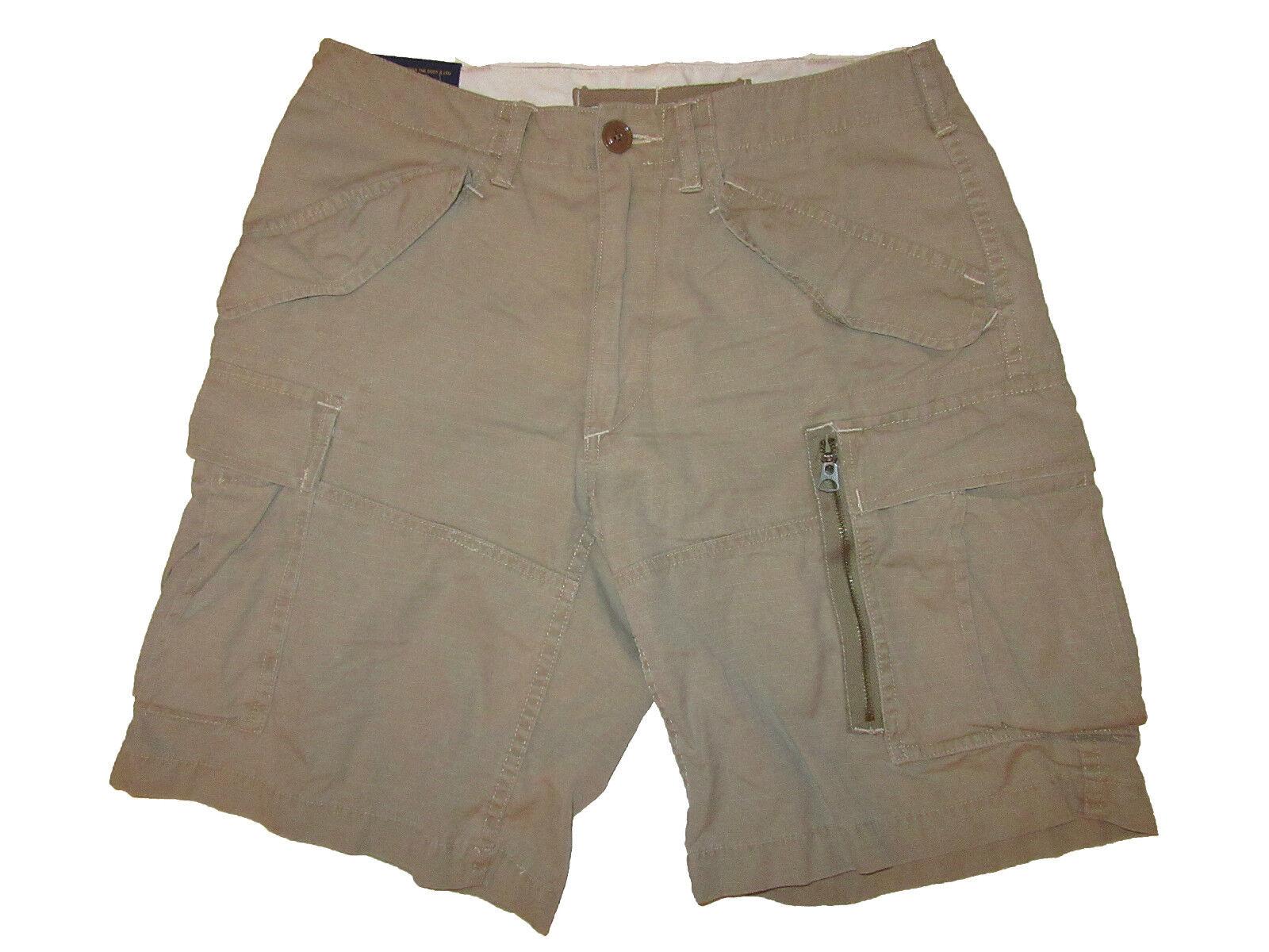 Polo Ralph Lauren Military Khaki Gunner Cargo Shorts 33