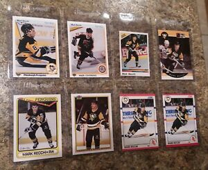 8-1990-91-Mark-Recchi-Rookie-card-lot-Upper-Deck-O-pee-chee-Score-Panina-RC-UD