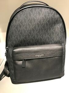 MICHAEL-KORS-MENS-UNISEX-RUSSEL-MIXED-MATERIAL-BACKPACK-BOOK-BAG-CAMPUS-BAG