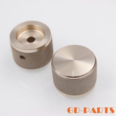 30x22mm Machined Full Aluminum Set Pointer Volume Rotary knob 6mm Hole Silver*2