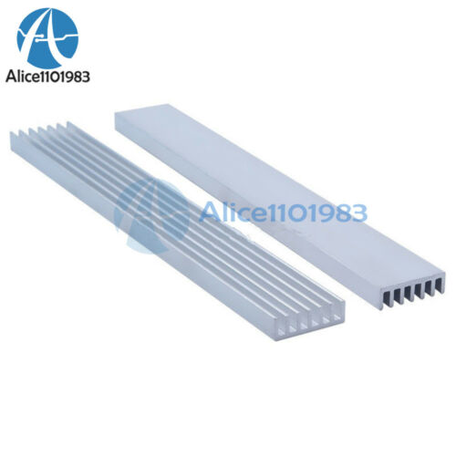 2PCS Silver-White Heat Sink LED 150x20x6mm Heat Sink Aluminum Cooling Fin