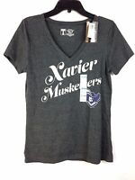 Xavier University Musketeers T-shirt Women's Medium Gray 50% Cotton