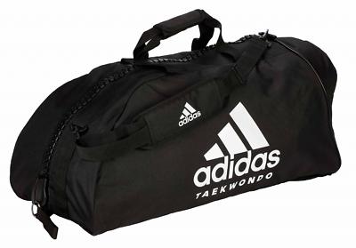 adidas 2in1 Bag martial arts redsilver Nylon, adiACC052