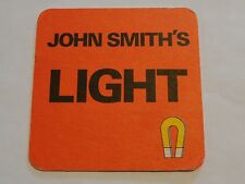 Beer Coaster: John Smith's Light ~ Formerly Brewed At Camerons Tadcaster England