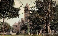 Michigan postcard Muskegon, Hackley School ca 1913