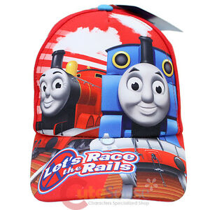 Thomas-Tank-Engine-Friends-Kids-Hat-Thomas-James-Baseball-Cap-Let-039-s-Race