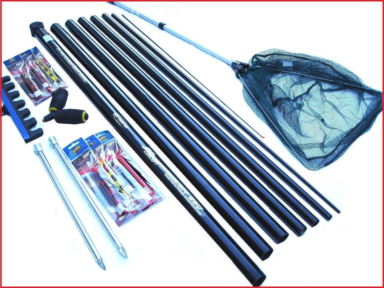 Shakespeare Starter Fishing Pole Kit Elastic Fitted  Rigs Roost Roller Rest Net