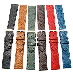 CONDOR-Flat-Lizard-Grain-Leather-Watch-Band-177R-16mm-18mm-20mm