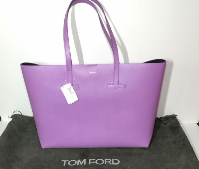 9f47a1f1b3 Tom Ford Small T Saffiano Leather Tote Bag in Lilac New w/Tag, Dustbag