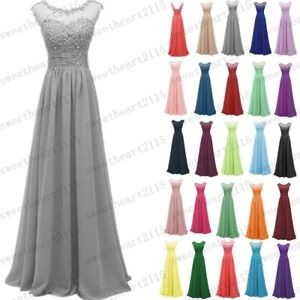 Chiffon Lace Evening Formal Party Ball Gown Bridesmaid Dress Dress 6~28 Custom
