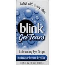 Blink Gel Tears Lubricating Eye Drops - Moderate to Severe - 0.34 oz  (3 PACK)