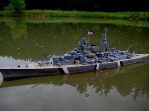 Rc Schlachtschiff Bismarck Kriegssschiff Ferngesteuertes Schiff Boot