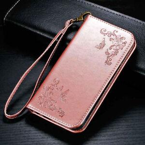 Portable-mgnetic-Fleur-Flip-Portefeuille-Coque-Etui-Housse-Pour-iPhone-Samsung-R
