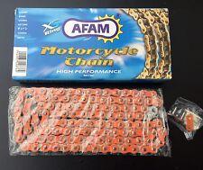 AFAM arancione Catena 520XRR-O,120 Membri,KTM #520,LC4,SX,EXC,SMR,MX,Cross