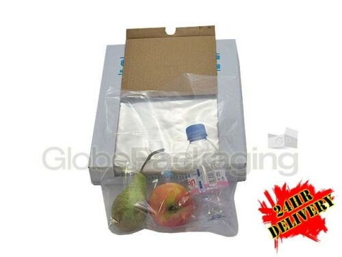 "2000 x HEAVY DUTY 12x15"" CLEAR POLYTHENE FOOD USE APPROVED BAGS 200 GAUGE 24HR"
